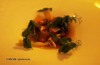 Smoked bone marrow and beef broth, Mauro Colagreco and Nuno Mendes at Viajante