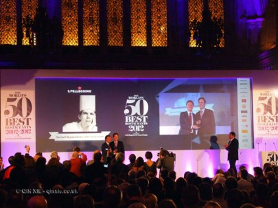 Thomas Keller with lifetime achievement at the World's 50 Best Restaurants 2012