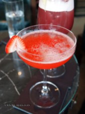 Red passion, Galvin at Windows bar, Hilton Park Lane