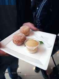 Mexican doughnuts and butterscotch sauce, Ceviche by Asia de Cuba