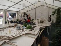 Setting up, British night, Global Feast 2012