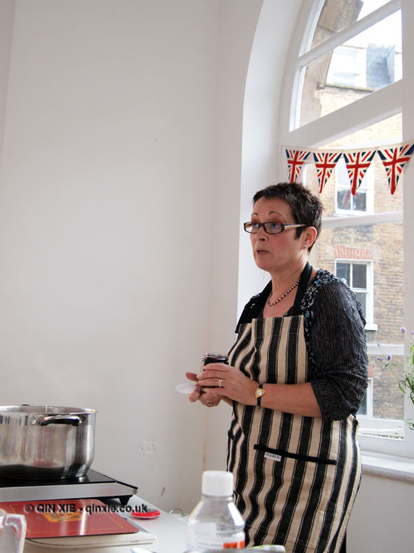 Vivien Lloyd talking about jam making