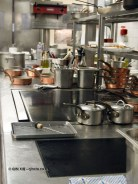 Kitchen, pre service, 25th Anniversary Celebration Menu at Alain Ducasse's Le Louis XV in Monte Carlo, Monaco