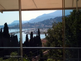View from table, Mirazur, Menton