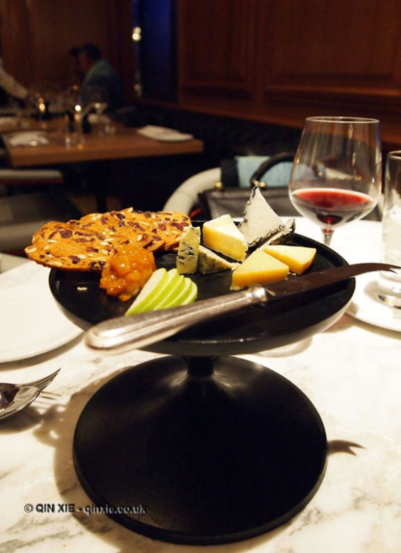 Cheese plate, Gillray's Steakhouse, Marriott County Hall