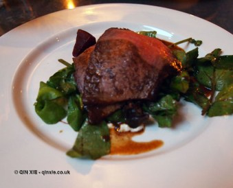 Dexter beef with beetroot and watercress, Rookery, Clapham