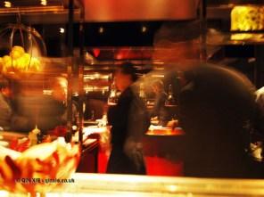 Blurry pass, l'Atelier de Joel Robuchon, London