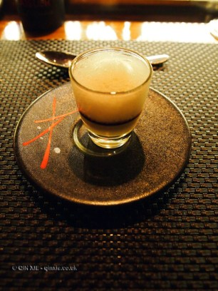 Parmesan cappuccino with port, l'Atelier de Joel Robuchon, London