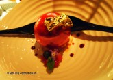 Red berry cream sphere, l'Atelier de Joel Robuchon, London