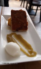 Suckling pig with parsnip, sweet potato crisps, apple sauce, lemon sorbet at Mallorca Week, Boqueria, Brixton