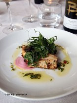 Coconut marinated wild seabass, candy beetroot and pickled walnut salad, pink peppercorn and lemongrass dressing, Brancott Estate at The Modern Pantry, Clerkenwell