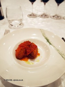 Cheese and egg balls, Villa Majella, Abruzzo