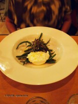 Goats curd, green beans, shallot and capers, Rooftop Cafe at The Exchange