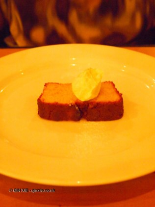 Orange cake and creme fraiche, Rooftop Cafe at The Exchange