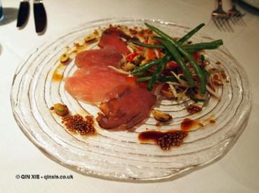 Tuna Ceviche with green papaya salad, London Malmaison Brasserie