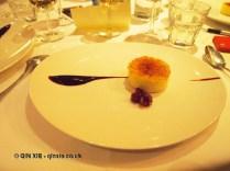 Crème brûlée with griottine cherries, Sonny's Kitchen, Barnes