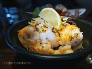 Peeled prawns, fried Spanish style, Catch by Simonis, The Hague