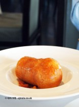 Rum baba, golden raisin compote & crème Fontainebleau, Galvin at Windows, London