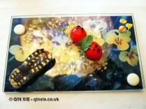 Golden footprint and ladybird, Arzak, San Sebastian
