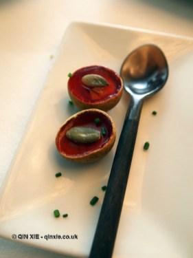 Logan shells with jelly, Arzak, San Sebastian
