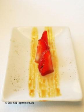 Marinated strawberries, Arzak, San Sebastian