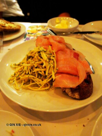 Pig's cheek ham with celeriac and mustard, One Leicester Street