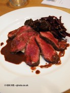 Roasted venison with spiced cabbage, Monica Galetti Experience, Cactus Kitchen