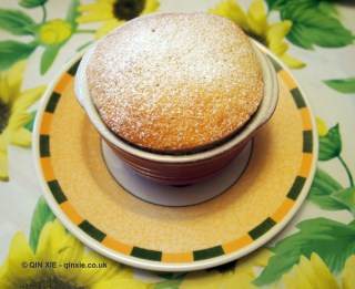 Hot banana soufflé with date syrup, Qin Xie Christmas 2013