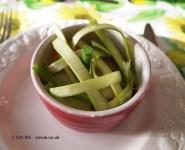 Chorizo baked egg with asparagus spear and pickled asparagus, Qin Xie Christmas 2013