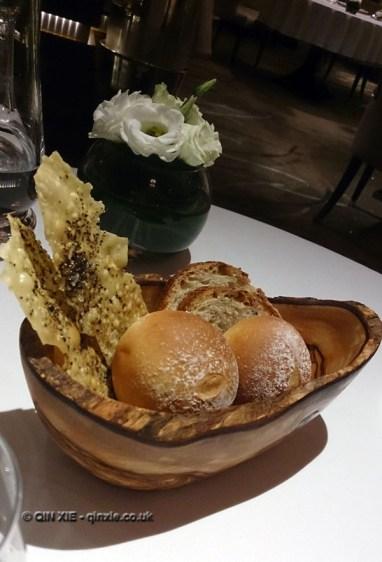 Bread basket, Alyn Williams at The Westbury