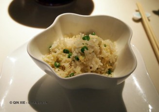 Egg fried rice, Chinese New Year at Yauatcha, London