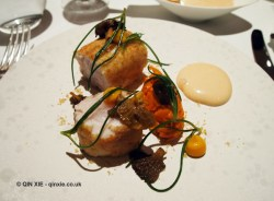 Gurnard, carrot, chanterelles, Alyn Williams at The Westbury
