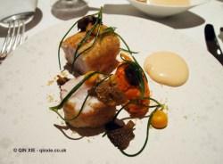 Gurnard, carrot, chanterelles, Alyn Williams at The Westbury