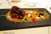 Octopus, pumpkin and coffee, Enoteca Pinchiorri, Florence