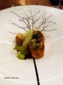 Orkney scallop, cauliflower and pistachio, Five Fields, Chelsea