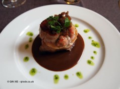 Filet mignon of pork with red wine jus, Côté Bastide, Bergerac