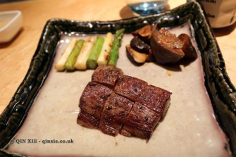 Filet steak, The Matsuri, St James