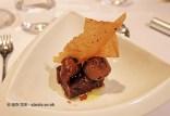 Chocolate cake with chocolate ganache, chocolate ice cream, olive oil and sea salt, Entrevins, Valencia