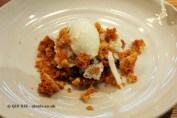 Goat's cheese ice-cream, oat & milk crumb, honeycomb, Dessert bar, Pollen Street Social, London
