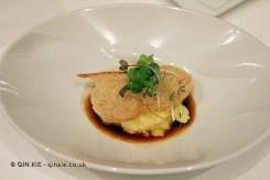 Saffron and lime risotto, lobster and chorizo sauce, The Yeatman, Porto