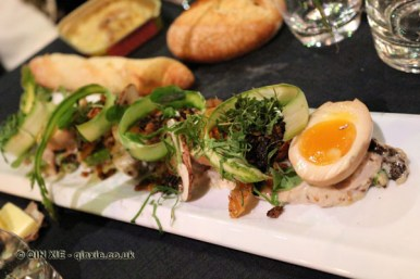 Forest - Salad of guinea fowl with egg, mushrooms and herbs, Bocuse d'Or gala dinner, Stockholm