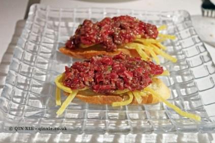 Montadito de Steak-Tartare (steak tartare canapé), Askua, Valencia