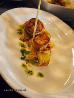 Rice and scallops at APEDA basmati rice conference