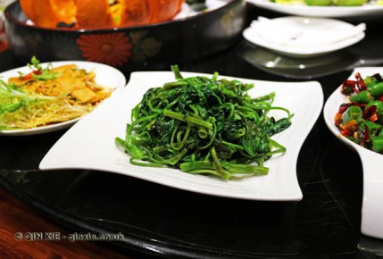 Stir fried seasonal vegetables, Kuan Alley No 3, Chengdu, China