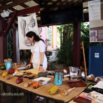 Ana Rita García Lascuráin in a workshop, Grenada Chocolate Festival