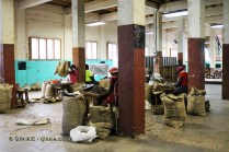 Ladies processing nutmeg, Gouyave nutmeg factory, Grenada