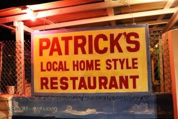 Sign, Patrick's Home Style Restaurant, Grenada