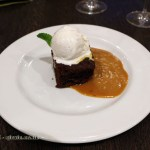 Sticky toffee pudding at The King's Arms, Dorset