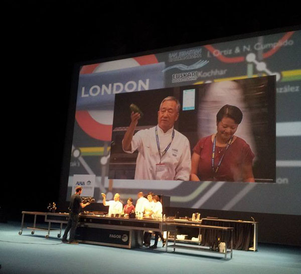 Qin Xie and chef Peng at San Sebastian Gastronomika 2013