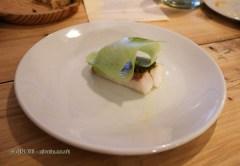 Hake, kohl rhabi and pistachios, Oswaldo Oliva at Carousel